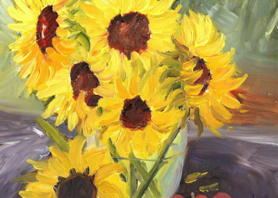 Sunflowers and Crabby Apples